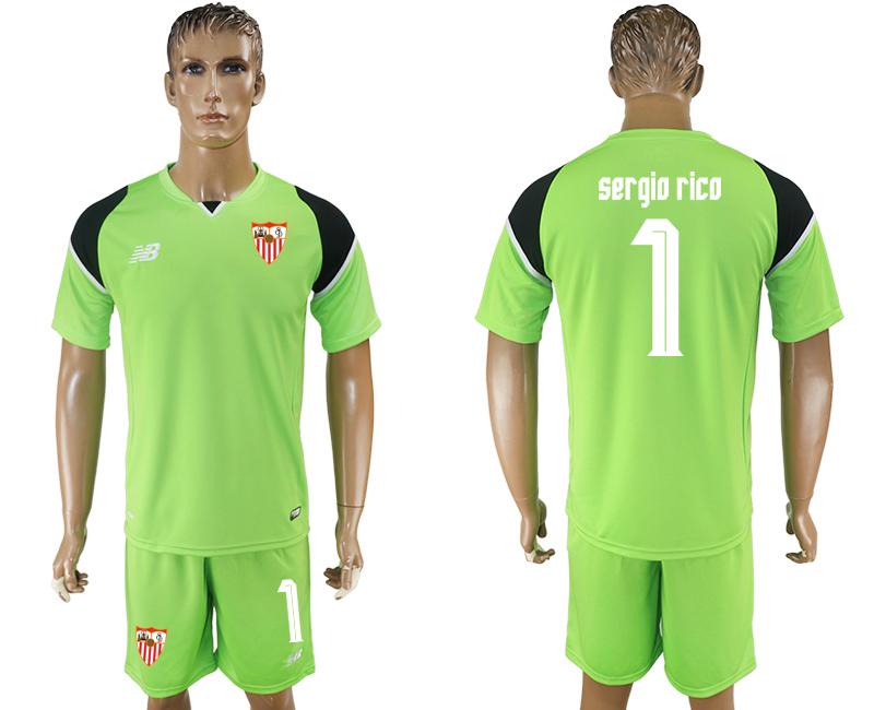 2016-17 Sevilla 1 SERGIO RICO Green Goalkeeper Soccer Jersey