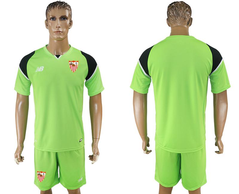 2016-17 Sevilla Green Goalkeeper Soccer Jersey