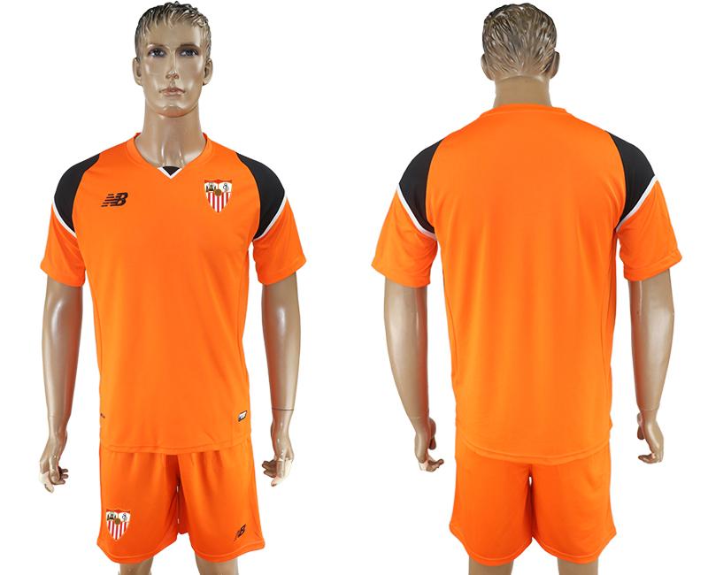 2016-17 Sevilla Orange Goalkeeper Soccer Jersey