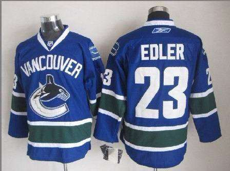 Canucks 23 Edler Blue Jerseys