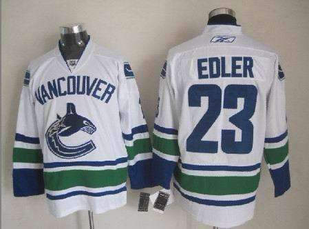 Canucks 23 Edler White Jerseys