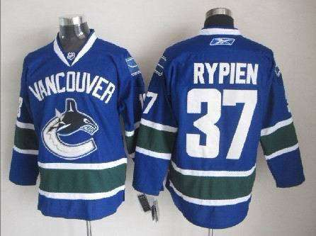 Canucks 37 Rypien Blue Jerseys