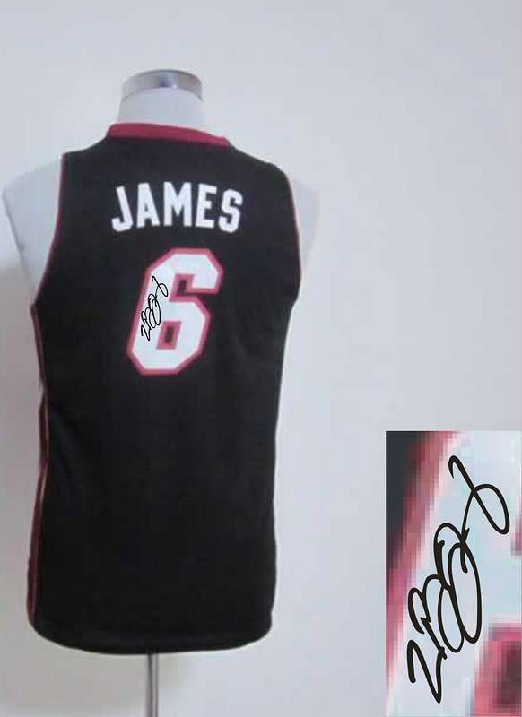 Heat 6 James Black Signature Edition Women Jerseys