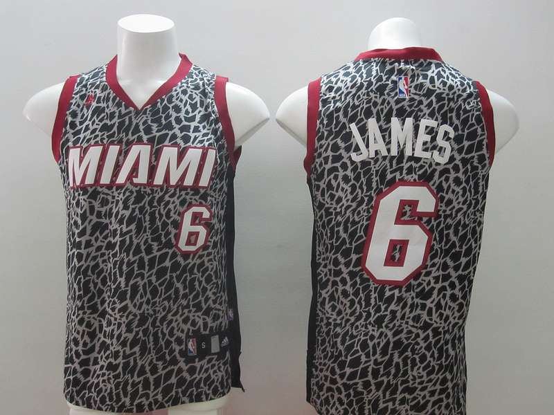 Heat 6 James Leopard Print Women Jerseys