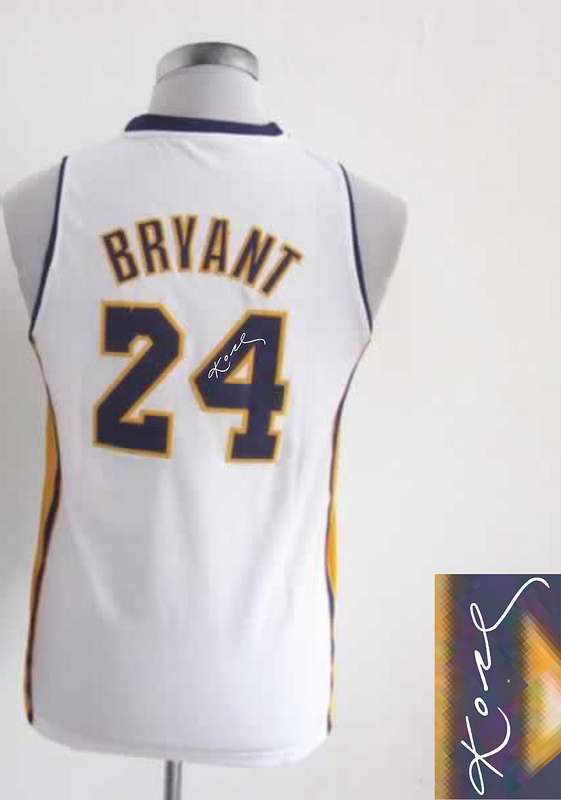 Lakers 24 Bryant White Signature Edition Women Jerseys