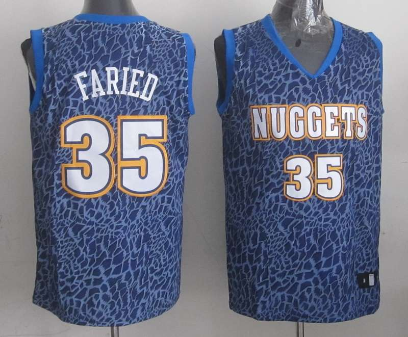Nuggets 35 Faried Blue Crazy Light Swingman Jerseys