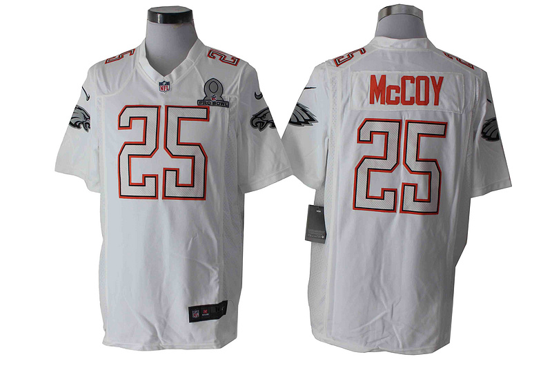 Nike Eagles 25 McCoy White 2014 Pro Bowl Game Jerseys
