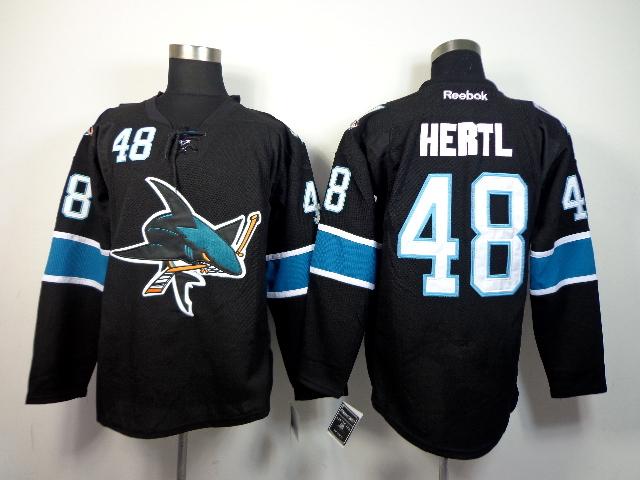 Sharks 48 Hertl Black Jerseys