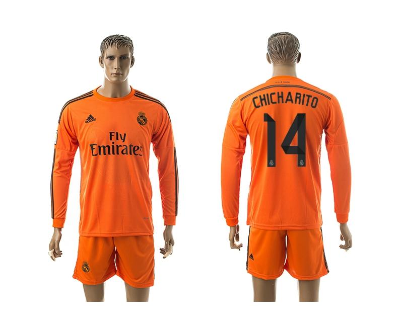 2014-15 Real Madrid 14 Chicharito Third Away Long Sleeve Jerseys