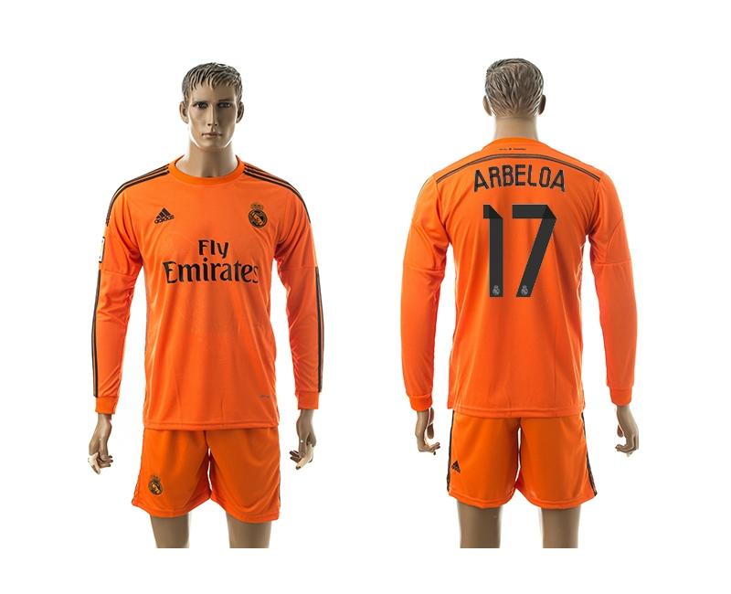 2014-15 Real Madrid 17 Arbeloa Third Away Long Sleeve Jerseys