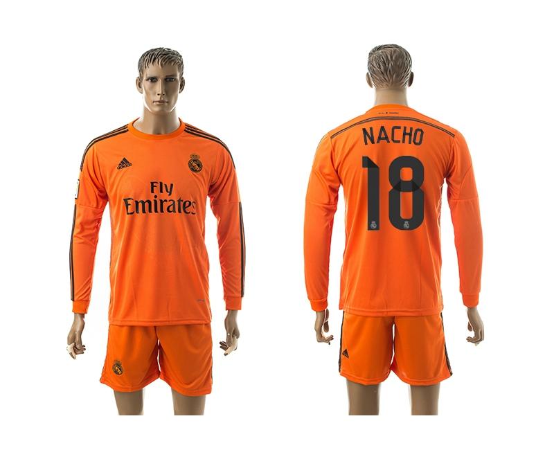 2014-15 Real Madrid 18 Nacho Third Away Long Sleeve Jerseys