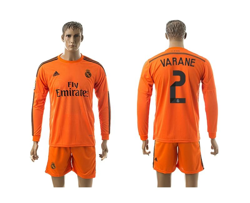 2014-15 Real Madrid 2 Varane Third Away Long Sleeve Jerseys
