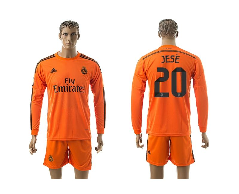 2014-15 Real Madrid 20 Jese Third Away Long Sleeve Jerseys