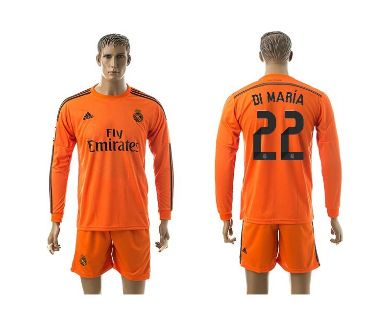 2014-15 Real Madrid 22 Di Maria Third Away Long Sleeve Jerseys