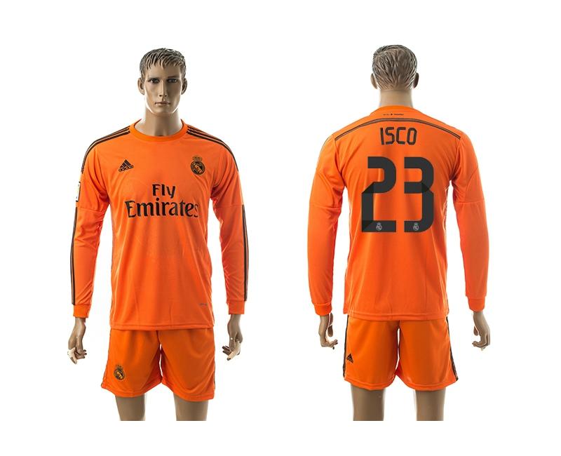 2014-15 Real Madrid 23 Isco Third Away Long Sleeve Jerseys