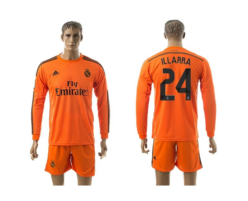 2014-15 Real Madrid 24 Illarra Third Away Long Sleeve Jerseys