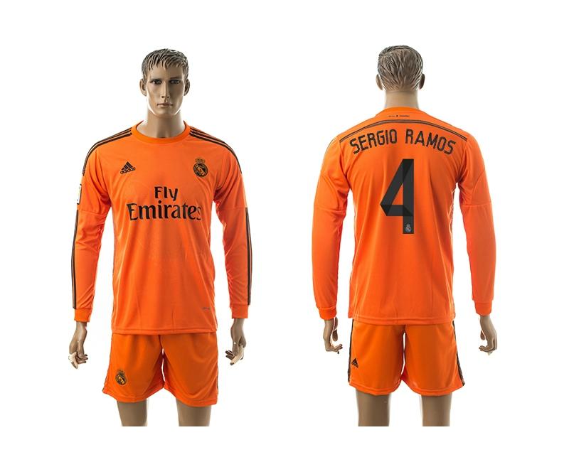 2014-15 Real Madrid 4 Sergio Ramos Third Away Long Sleeve Jerseys