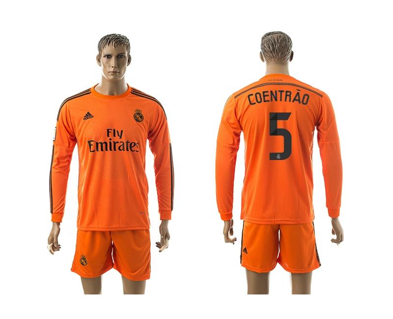 2014-15 Real Madrid 5 Coentrao Third Away Long Sleeve Jerseys