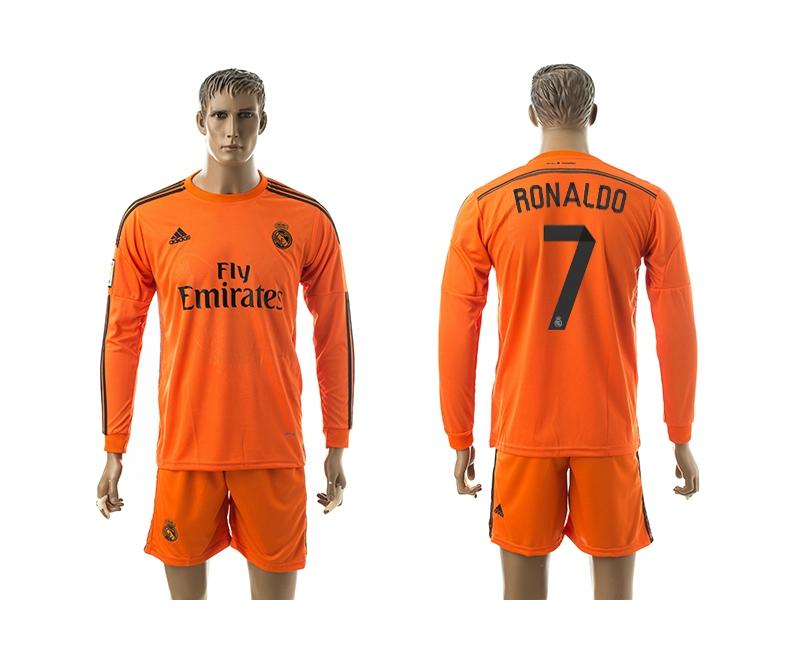 2014-15 Real Madrid 7 Ronaldo Third Away Long Sleeve Jerseys
