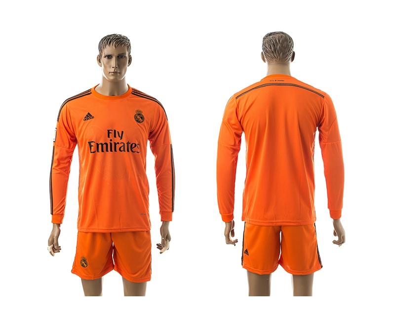 2014-15 Real Madrid Third Away Long Sleeve Jerseys