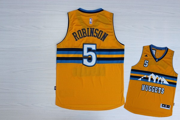 Nuggets 5 Robinson Yellow New Revolution 30 Jerseys