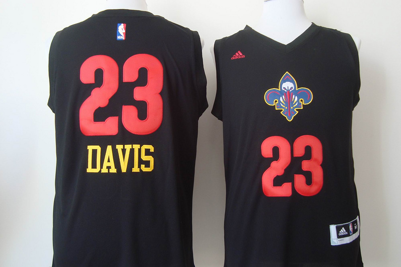 Pelicans 23 Davis Black Fashion Jerseys