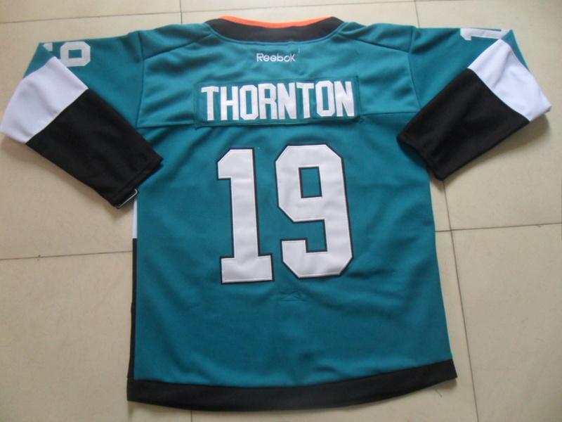 Sharks 19 Thornton Teal 2015 Stadium Series Jerseys