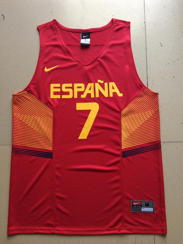 Spain 7 Juan Navarro Red 2014 FIBA Jerseys