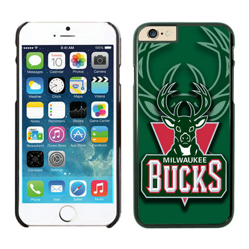 Milwaukee Bucks iPhone 6 Plus Cases Black