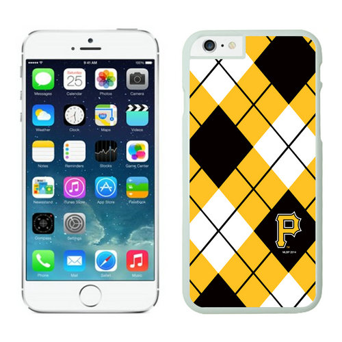 Pittsburgh Pirates iPhone 6 Plus Cases White