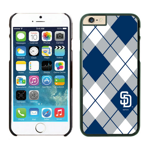 San Diego Padres iPhone 6 Plus Cases Black