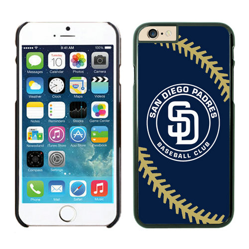 San Diego Padres iPhone 6 Plus Cases Black04
