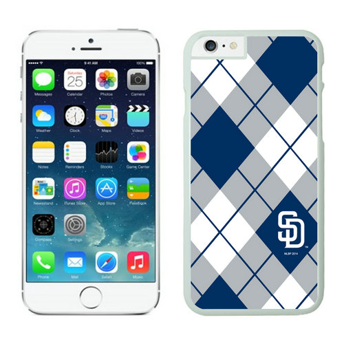San Diego Padres iPhone 6 Plus Cases White