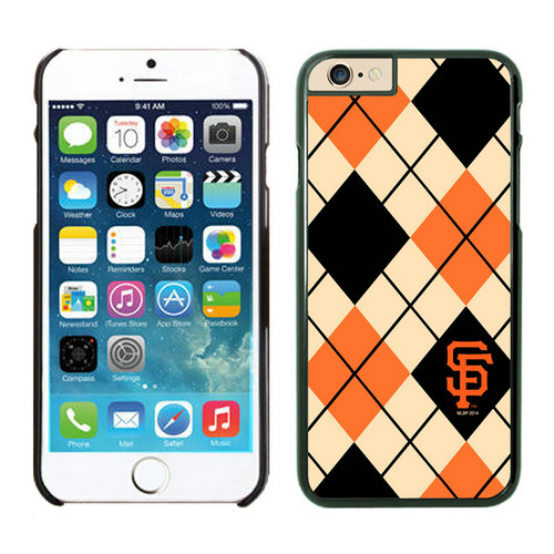 San Francisco Giants iPhone 6 Plus Cases Black