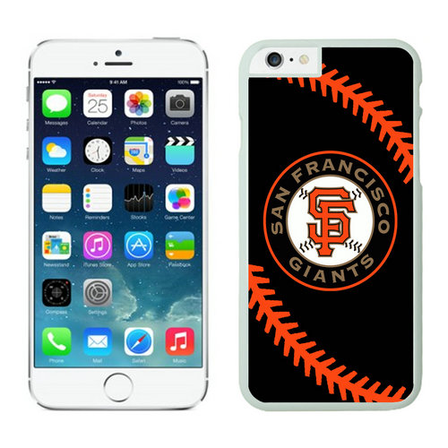 San Francisco Giants iPhone 6 Plus Cases White