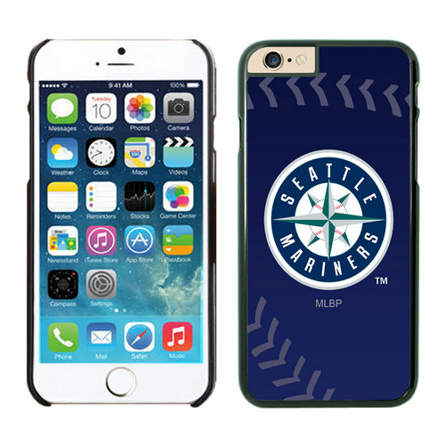 Seattle Mariners iPhone 6 Plus Cases Black