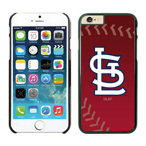 St Louis Cardinals iPhone 6 Plus Cases Black