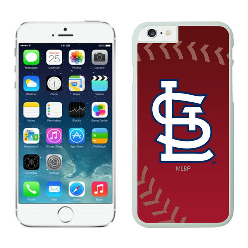 St Louis Cardinals iPhone 6 Plus Cases White03