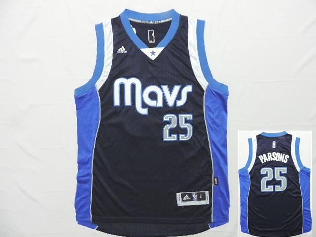 Mavericks 25 Parsons Navy Blue New Revolution 30 Jersey