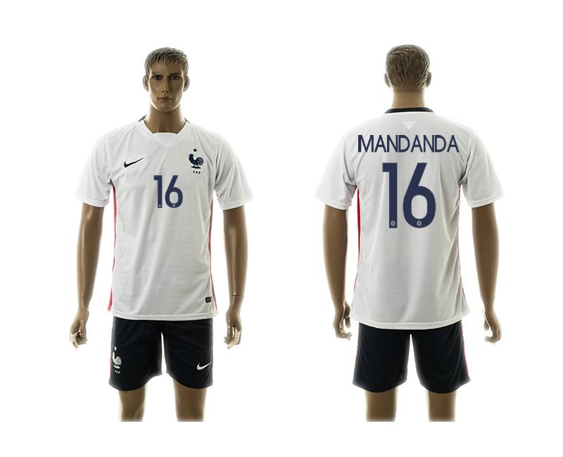 2015-16 France 16 Mandanda Away Jersey