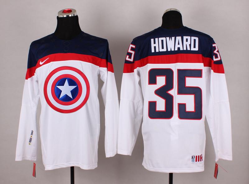 USA 35 Howard White Captain America Jersey