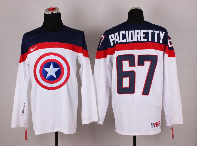 USA 67 Pacioretty White Captain America Jersey