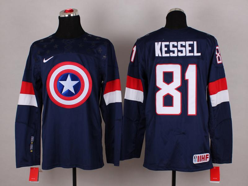 USA 81 Kessel Blue Captain America Jersey