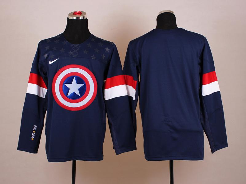 USA Blue Captain America Jersey