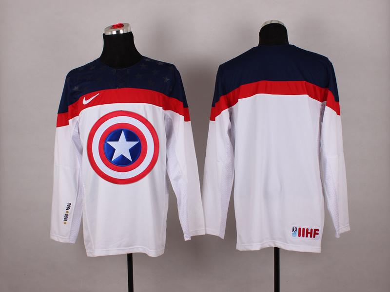 USA White Captain America Jersey