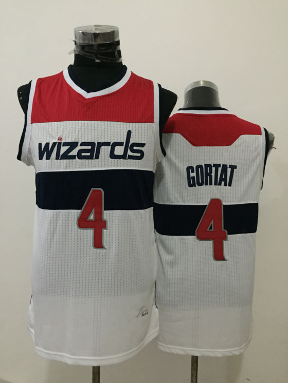 Wizards 4 Marcin Gortat White New Revolution 30 Jersey