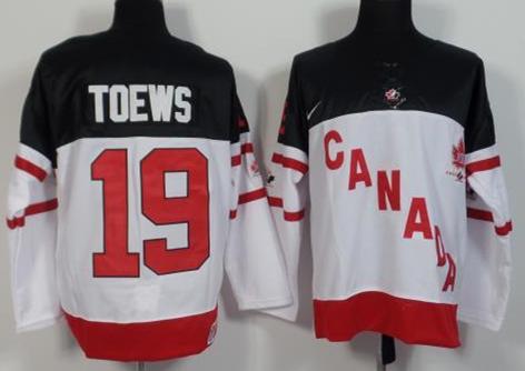 Canada 19 Jonathan Toews White 100th Celebration Jersey