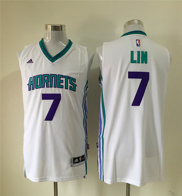 Hornets 7 Jeremy Lin White New Revolution 30 Jersey