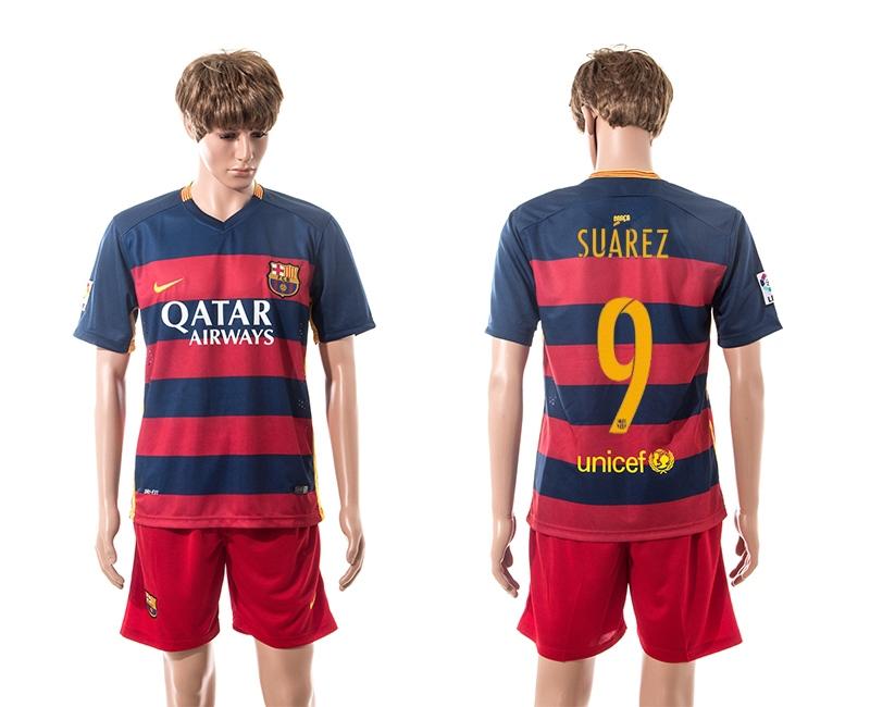 2015-16 Barcelona 9 SUAREZ Home Jersey