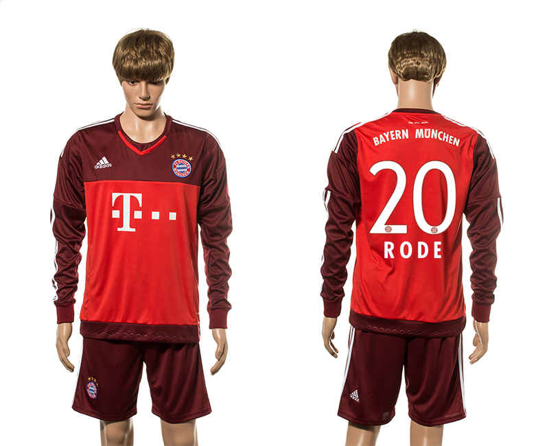 2015-16 Bayern Munich 20 RODE Goalkeeper Jersey